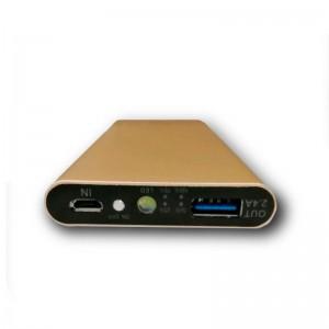 Аккумулятор портативный Power bank ZeBro 10000 mAh (2,4A 1USB) (золотой)