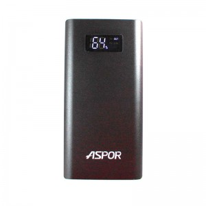 Aspor Power Bank 10000 mAh (Q388) Quick Charge Black  - купить