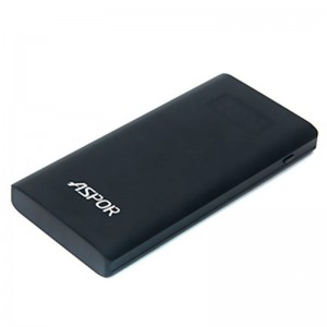 Aspor Power Bank 10000 mAh (Q388) Quick Charge Black
