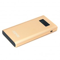 Aspor Power Bank 10000 mAh (Q388) Quick Charge Gold
