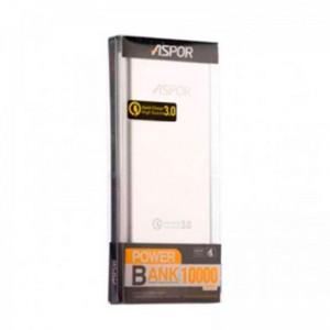 Аккумулятор портативный PowerBank Aspor 10000 mAh Q389 Серебряный (Fast Charge)  - купить