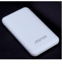 Аккумулятор портативный PowerBank Aspor 8000 mAh A335 (micro/Lighting input) Белый