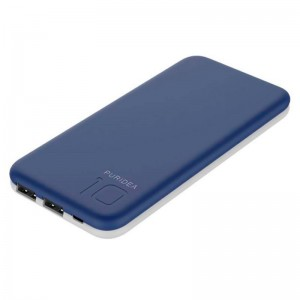 Внешний аккумулятор (Power Bank) Puridea S2 10000mAh Li-Pol Rubber Blue & White (S2-Blue White)  - купить