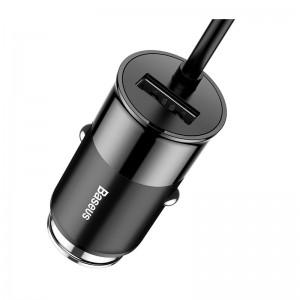 Автомобильное ЗУ для мобильных телефонов, планшетов Baseus Enjoy Together Four Interfaces Output Patulous Car Charger 5.5A Black (CCTON-01)
