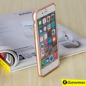 Бампер Сталь для iPhone 6 / iPhone 6S (золотой)  - купить
