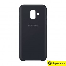 Чехол-накладка Samsung Dual Layer Cover для A6 2018 A600 (EF-PA600CBEGRU) черный