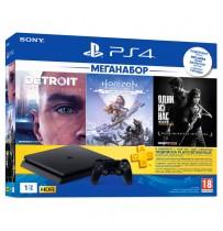 Игровая Консоль Sony PlayStation 4 Slim 1TB HZD+DET+TLOU+PSPlus 3М