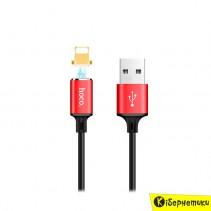 Кабель USB Hoco U28 Magnetic Absorption Lightning Black