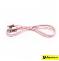 Кабель USB Hoco X2 Knitted Iphone 6 Pink