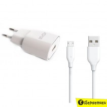 Мережевий зарядний пристрій ASPOR- A818 (1A iQ)+ кабель Type-C