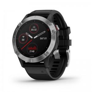 Мультиспортивний годинник GARMIN Fenix 6S Silver with Black Band  - купить