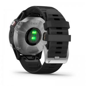 Мультиспортивний годинник GARMIN Fenix 6S Silver with Black Band