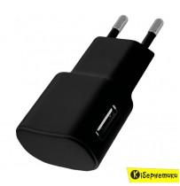 Сетевое зарядное устройство Florence USB (1A) (FW-1U010B)/(FW-1U010W)