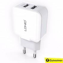 Сетевое зарядное устройство LDNIO 2 USB (2,4A) (DL-A2202)