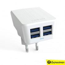 Сетевое зарядное устройство LDNIO 4 USB (4.2A)