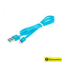 Кабель USB Gelius Knight seria iPhone 5 (синий)
