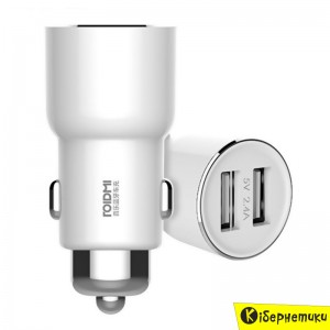 Xiaomi Roidmi Bluetooth Car Transmitter S3 with Charger 2USB White (BFQ04RM)  - купить