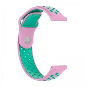 Xiaomi Silicone Strap for Amazfit Stratos, 22mm, Pink-Mint (AMZSTRSILNIKE-RG)  - купить