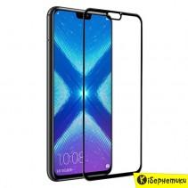 Защитное стекло 3D для Huawei Honor 8X  черное