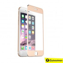 Защитное стекло 3D для iPhone 6 (золотое)