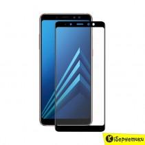 Защитное стекло 3D для Samsung A8+ 2018 A730 черный