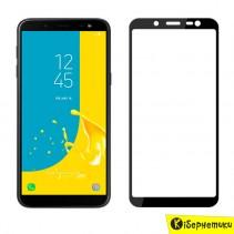 Защитное стекло 3D для Samsung J6 2018 J600 (черный)