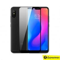 Защитное стекло 3D для Xiaomi Mi A2 Lite/ 6 pro (черное)