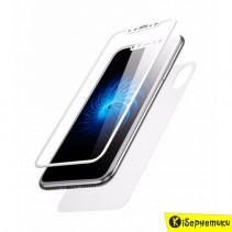 Защитное стекло Baseus Glass Film Set для iPhone X белое 2 в 1