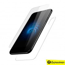 Защитное стекло Baseus Glass Film Set для iPhone X прозрачное 2 в 1