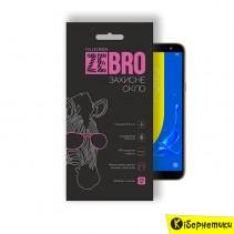 Защитное стекло ZeBro Full Screen для Samsung J600 (J6 2018) Gold