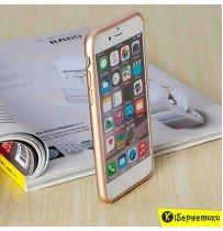 Бампер Сталь для iPhone 6 / iPhone 6S (золотой)