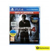 Игра для PS4 на BD диске Uncharted 4 Путь вора [PS4,Russian version] Blu-Ray
