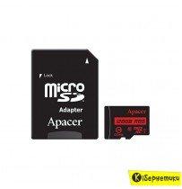 Карта памяти Apacer 128 GB microSDXC Class 10 UHS-I + SD adapter AP128GMCSX10U1-R
