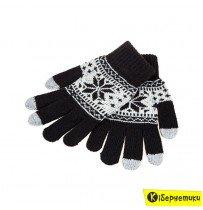 Перчатки для смартфонов Touch Glove Black/White