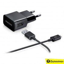 Сетевое зарядное устройство Samsung EP-TA12EBEUGRU (2 mAh) (черный)