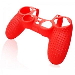 Силиконовый чехол для джойстика NOMI Anti-slip для PS4(Red)  - купить